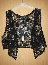 Atmosphere Ladies Black 3/4 Length Bolero Top Size Large