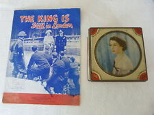 Vintage Queen Elizabeth Coronation Tin & The King is Still in London Music Sheet