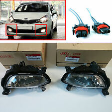 KIA 2012~2015 Rio Sedan  Fog Lamp + Connector  Set  Front Left  Right 2EA=1SET