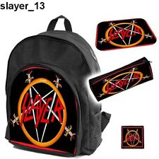 SLAYER Set school backpack pencil case + free mouse pad and patch  MEGADETH