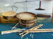 DRUM KIT JETEL JUNIOR JAZZ  OUTFIT RARE VINTAGE 1930 BATTERIA VINTAGE 1930