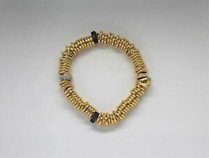 LINKS OF LONDON Ladies Yellow Gold Vermeil 3-Diamond Bead Sweetie Bracelet S NEW