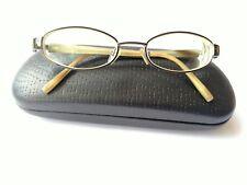 Giorgio Armani women's tortoise bronze oval eyeglass frames 130