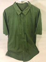 Mountain Hardwear Size L Mens Shirt Green Short Sleeve Button Down Free Shipping