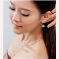 la mode des bijoux les femmes le coréen opal argenté collier pendentif white