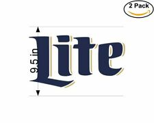 Miller Lite Vintage 2 2 Stickers 9.5 Inch Sticker Decal