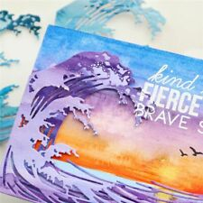 Wave Frame Metal Cutting Dies Scrapbooking Album Process Embossing Mold DIY
