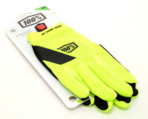 100% Adult RIDECAMP Gloves-Touch Screen MX ATV Dirt MTB Extra Large,Neon Yellow