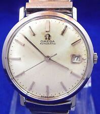 ORIGINAL MEN VINTAGE 1964 OMEGA AUTOMATIC DATE S-STEEL WATCH SERVICE 562 REF.162