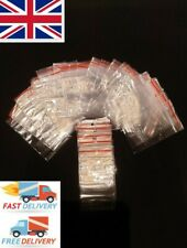 500 GRIP SEAL BAGS Self Resealable Clear Polythene Poly Plastic Zip Lock