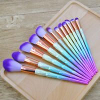 Pro 12Pcs Unicorn Makeup Brushes Eyeshadow Blush Powder Foundation Brush Set