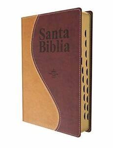 Biblia 1960 Letra Gigante Reina Valera Dos Tonos Con Indice [Leather Bound] Rein