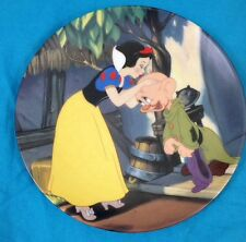 Knowles Disney Snow White 'A Kiss for Dopey' Collectors Plate Original Packaging