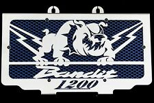"cache / Grille de radiateur 1200 GSF Bandit 1996>2000 ""Hold up"" + grilllage bleu"