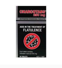 Key Pharmaceuticals Charcotabs 250mg 60 tablets ( treatment of flatulence )
