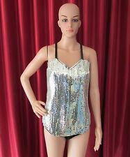 Da NeeNa R48 Robot Queen Showgirl Dance Pageant Vegas Dance Leotard Bodysuit L