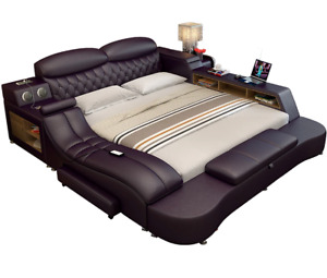 Smart Electric Big Double Leather Bed Modern Widened Master Luxury Best Bedroom