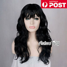 Women's Fashion 60CM Long Black Curly Fancy Dress Costume Cosplay Party Wig