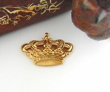 BRASS (2 Pieces) CROWN Sovereignty Stamping ~ Jewelry Findings (FA-6085) `