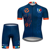 2020 Men's Cycling Jersey Shorts Kits Short Sleeve Riding Shirt Short Pants Sets