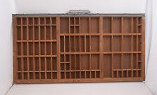 Gray Wood Printers Typeset Tray Drawer Hamilton 32x16 Shadowbox (#4 )