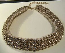 Fantastic gold tone metal statement style choker based on material heavy!! Avon