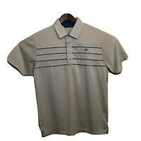 Travis Mathew NWOT Mens Polo Golf Striped Shirt XL Gray Silver