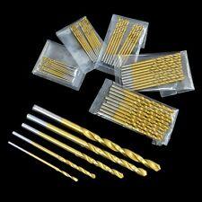 50Pcs Mini Micro Round Shank Drill Bits Set Small Precision HSS Twist Drills