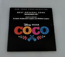 COCO  FYC Best Original SONG CD Music FOR YOUR CONSIDERATION