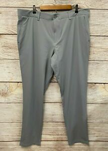 Under Armour Golf Pants Mens 42X36 Grey Stretch Comfort Waist Taper Fit New