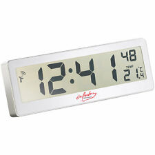 infactory Kompakte Funkuhr mit riesigem XXL-LCD-Display und Temperatur-Anzeige