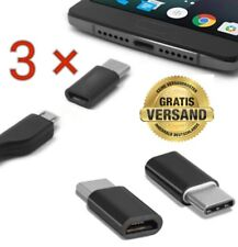3 Adapter Typ-C 3.1 zu Micro USB Konverter Stecker Buchse Ladekabel schnell