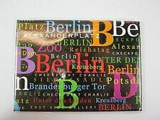 Berlin Germany Foto Magnet XXL Schriften ,Deutschland Souvenir,9 cm