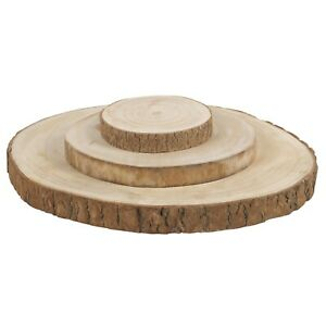 Festive Rustic Wooden Slice Plate Log Table Centerpiece Wedding Home Decoration