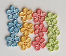 Country Garden Buttons by Dress It Up / Jesse James / Sew Thru Flower Buttons