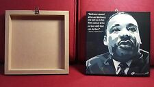 Modern Pop Art Picture with Black frame and hanging. (Martin Luther King Jr.)