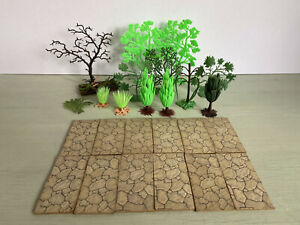 Britains Plastic Floral Garden And Others Trees And Crazy Paving