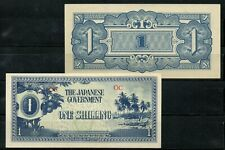 Japan Japanese Government Invasion Money from Wwii Jim 1 Shilling Oceania Unc