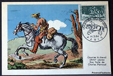 Yt 1406 Mailing a Horse France Card Postal Maximum