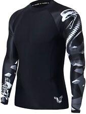 HUGE SPORTS Compression UV Protection Quick Dry Gym Skins RashGuard Cobra XSmall