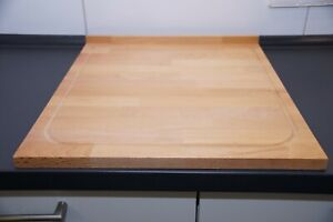 Schneidebrett 54x46x2cm massiv Schneidbrett Holz Küchenbrett groß XXL Buche XL