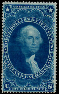 R87c Milky blue no cancel, Inland exchnage, fresh 1st Issue