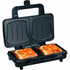Piastra Elettrica Sandwich Toast 900W Acciaio Bistecchiera Grill Antiaderente