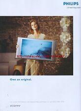 "Philips Flat TV ""Own An Original"" 2003 Magazine Advert #54"