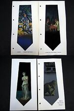 4 Cezzane Venus Thinker  hand painted swatches Crepe de Chine silk - Lot #10