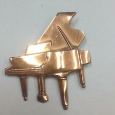 Rare Vintage Signed KIM (Craftsman) Piano Brooch Pin MID-CENTURY MODER
