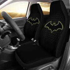 Batman Logo 2PCS Car Seat Covers Universal Fit Vehicles Truck SUV Seat Protector