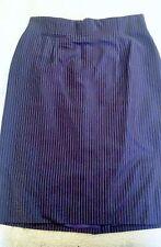 Dana Buchman Size 14 Blue Striped Straight Pencil Skirt
