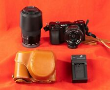 Sony Alpha a6000 Mirrorless Digital+16-50mm+55-210mm+Leather Case+2067 Clicks