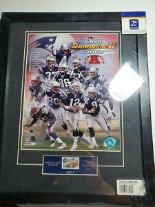 2004 New England Patriots USPS Memorabilia- AFC Champions stamp/photo framed